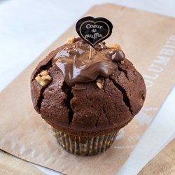 Image de Muffin brownie coeur choco noisette