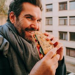 Image de Sandwich betterave patate douce